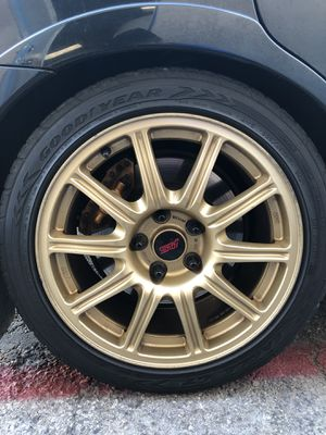 2006 sti bbs wheels 5x114.3 for Sale in San Bernardino, CA