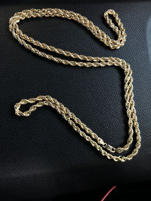 Real 10k Gold Rope Chain 30in LONG for Sale in Pasadena, CA
