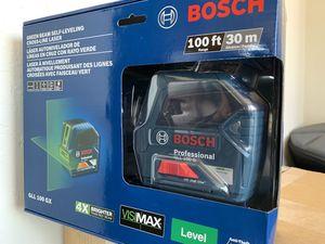Bosch Green beam self leveling cross line laser100ft for Sale in Phoenix, AZ