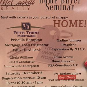 Free home buyers seminair investors are welcome also for Sale in Detroit, MI