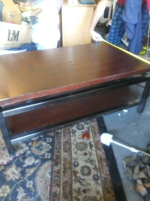 Coffee table very sturdy metal frame for Sale in Bartow, FL