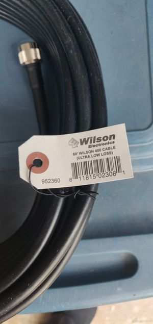 Used, Wilson Electronics 400 Coax Cable 60 Foot N-Male Connectors 952360 for Sale for sale  Spring, TX