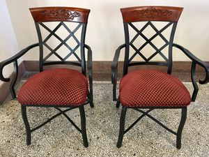Like New Black & Upholstered Dining Chairs for Sale in Washington, DC