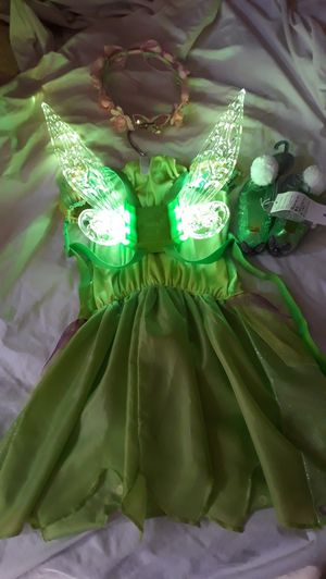 Tinkerbell complete costume, dress, glow wings shoes, headpiece all for only $38.00 for Sale in Montclair, CA
