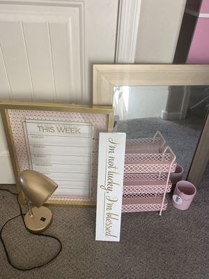 Pink And Gold Decor Sold as individual pieces for Sale in Peoria, AZ