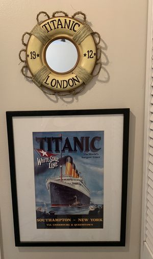 TITANIC WALL DECOR FRAME MIRROR DECORATION for Sale in Miramar, FL