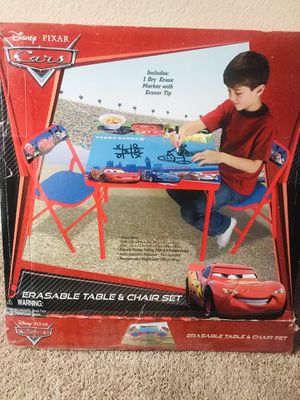 Cars kids table and 2 chairs- excellent condition for Sale in Frisco, TX