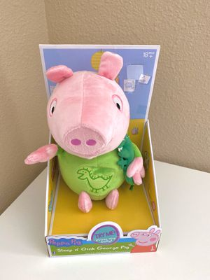 Peppa Pig Slumber N' Oink George Plush w/ Lullaby Song- Perfect Christmas Gift for Kids for Sale in Santa Clara, CA