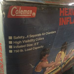 Coleman Brand New Heavy Duty Inflatable 4 person boat.repair kit, high visibility colors, carrying handles, Brand New for Sale in Plainfield, IL
