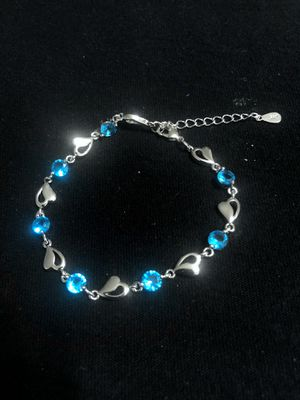 Sterling Silver / Hearts and Blue CZ Bracelet for Sale in Las Vegas, NV