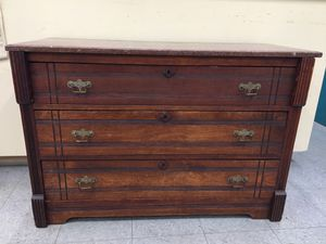 Antique Eastlake dresser marble top for Sale in Fort Washington, MD