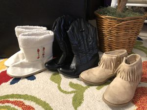 3 Beautiful Girl's Boots size 13 ( Gymboree,Fabkids,..) for Sale in West Palm Beach, FL