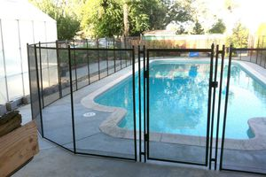 Basically NEW 43 ft Removable Mesh Pool Fence, Gate and Keys included for Sale in Tempe, AZ