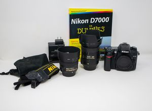 Nikon D7000 DSLR, Lenses, Flash Combo for Sale in Greenville, SC