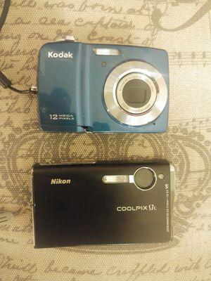 Nikon and Kodak 12mp and 7mp Digital Cameras (AA batteries) for Sale in Kenmore, WA