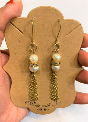 Bridal earring Natural fresh water Pearl Earring for Sale in Peoria, IL