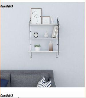 Three tier floating wall shelves [Black] by Camillel 43 heavy duty beautiful for Sale in Las Vegas, NV