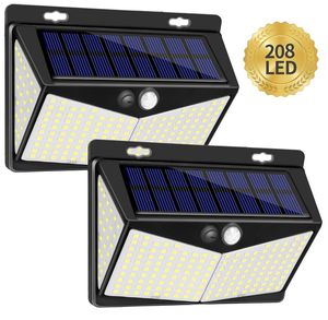 Solar Lights Outdoor 208 LED,Wireless Motion Sensor Lights with 270° Wide Angle IP65 Waterproof for Deck Fence Post Door Wall Yard and Garage, Yard, for Sale in Santa Ana, CA