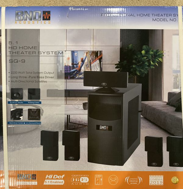 BNO Acoustic HD Home Theater System sq-9