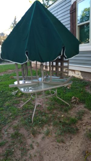 Outside Table, 2 Chairs and Umbrella for Sale in Atlanta, GA