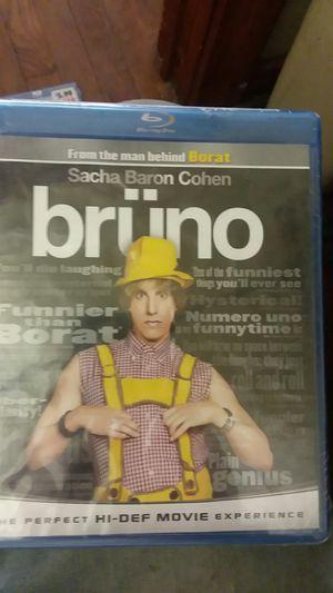 BRUNO Blu-ray DVD new for Sale in Tulsa, OK