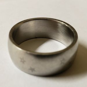 Titanium Ring Band, Size 8, with faded Stars ! for Sale in West Covina, CA