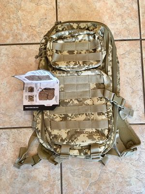 New Military MOLLE Backpack with Hydration Pack Bladder for Sale in Los Angeles, CA