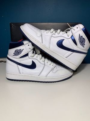 Nike Air Jordan Retro 1 Metallic Navy Size 9 for Sale in Lynwood, CA