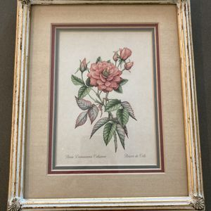 Vintage Flower Picture With Frame, 9x11, $15 For Both for Sale in Buena Park, CA