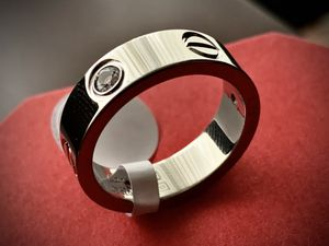 Cartier ring silver with diamonds and gift box for Sale in Glendale, CA