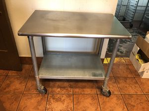 Stainless Steel Table on Casters for Sale in Olmsted Falls, OH