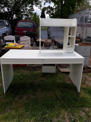 Wood Desk with shelf for Sale in Willows, CA