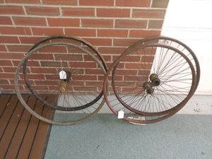 4 vintage orly Rare bicycle wood rim wheels for Sale in Milton, PA