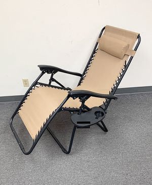 New $35 each Adjustable Zero Gravity Lounge Chair Recliner for Patio Pool w/ Cup Holder (2 Colors) for Sale in City of Industry, CA