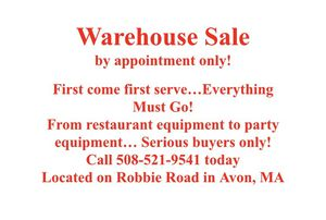 Warehouse Sale! for Sale in Stoughton, MA