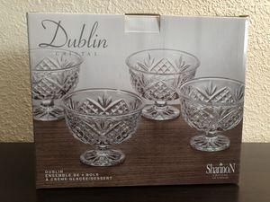 Dublin Crystal Dessert Bowl Set (4 piece) for Sale in San Diego, CA