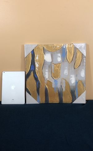 "16""x16"" hand painted 3D golden abstract canvas wall art for Sale in York, PA"