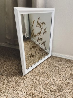"HOBBY LOBBY ""I HAVE FOUND THE ONE WHOM MY SOUL LOVES"" WALL ART MIRROR for Sale in Glendale, AZ"