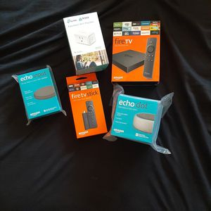 Amazon voice activated devices (most current editions), best offer for Sale in Cleveland Heights, OH