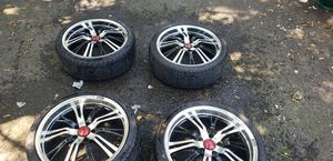 Koing unknown rims size 20 inch almost new tires sure size 245 35 20 good condition could be painted dust on in pictures and specials on two of rims for Sale in Fallsington, PA