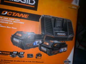 Ridgid octane 18 valt Tooth battery starter kit for Sale in Sacramento, CA