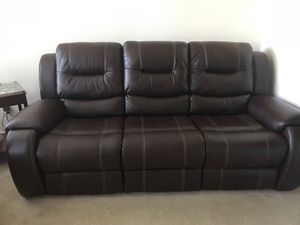 Leather sofa and love seat recliner for Sale in Alexandria, VA
