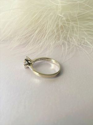 Classic round solitaire ring, Wedding silver ring, High quality engagement ring for Sale in Ladera Ranch, CA