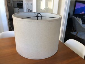 REDUCED PRICE! Modern Natural Linen Drum Shade for Sale in San Diego, CA
