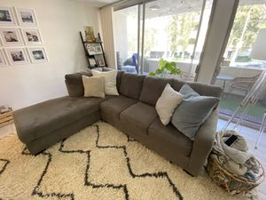 Grey Living Spaces Couch (right facing L) for Sale in Los Angeles, CA