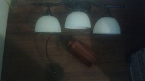 Frosted light fixture+hand blown glass lamp for Sale in Atlanta, GA