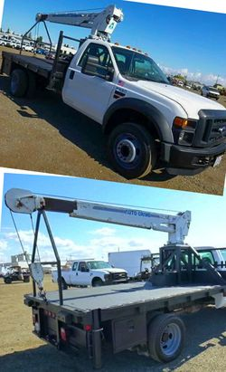 2008 Ford F550 F 550 F-550 Flatbed FLAT BED w/ Crane for Sale in Riverbank,  CA