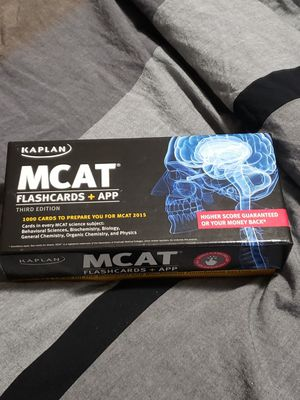Kaplan MCAT Flashcards with App 3rd Edition for Sale in Boca Raton, FL