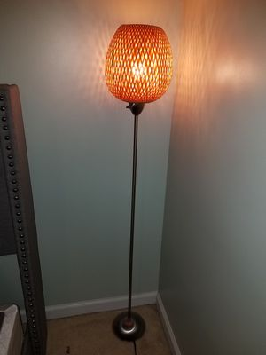 Wicker bamboo floor lamp for Sale in Saint Charles, MD
