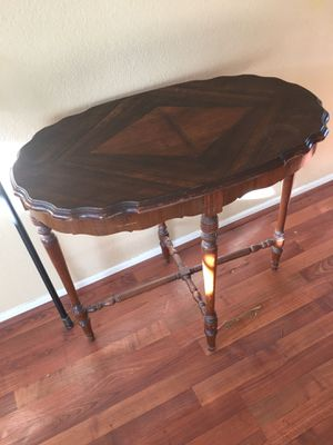 Antique oval inlaid wood top and carved table for Sale in Lake Forest, CA